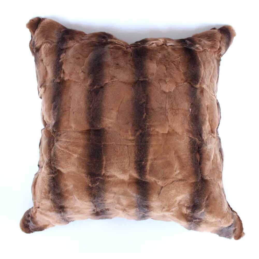 Rex Rabbit Fur Pillowcase Patchwork Natural Fur Skin Cushion Genuine Fur Pillow Cover Genuine Fur Pillow