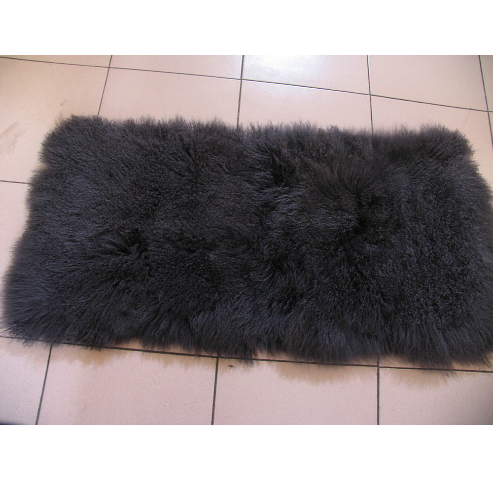 Natural Mongolian Lamb Fur Plate High Quality Genuine Sheep fur Long and Curly hair Natural Fur Material for DIY Factory