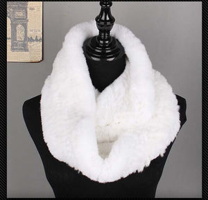 Real Rex Rabbit Fur Scarf Hand Knitted Fashion Women Shawl Natural Rabbit Fur Shawl Factory price