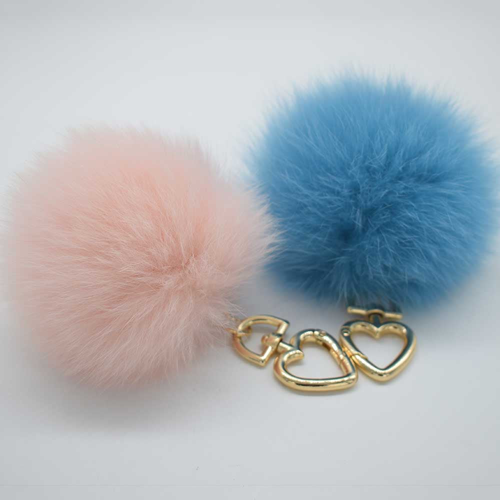 Real Fox Fur Pompom Charm Fashion Bag Charm Real Fox Fur Keyring Fluffy Fur Charm Pendant 10cm Fox Fur Pompom