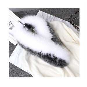 Natural Fox Fur Collar for Hood 100% Real Fur Collar Scarf Fox Fur Collar Scarf Custom Made Winter Fur Hood trimming