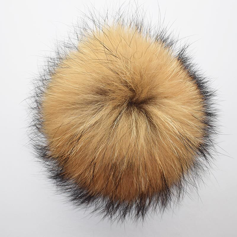Genuine Raccoon Fur Pompom Big Fox Fur Ball for Beanies Natural Raccoon Fur Pompom for Hat Fur Charm Keychain