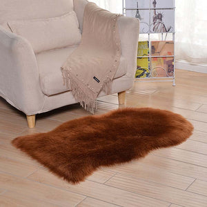 Sheepskin Plush Artificial Fur Carpet Long wool Carpet Soft Faux Fur Bedroom Floor Rug Washable