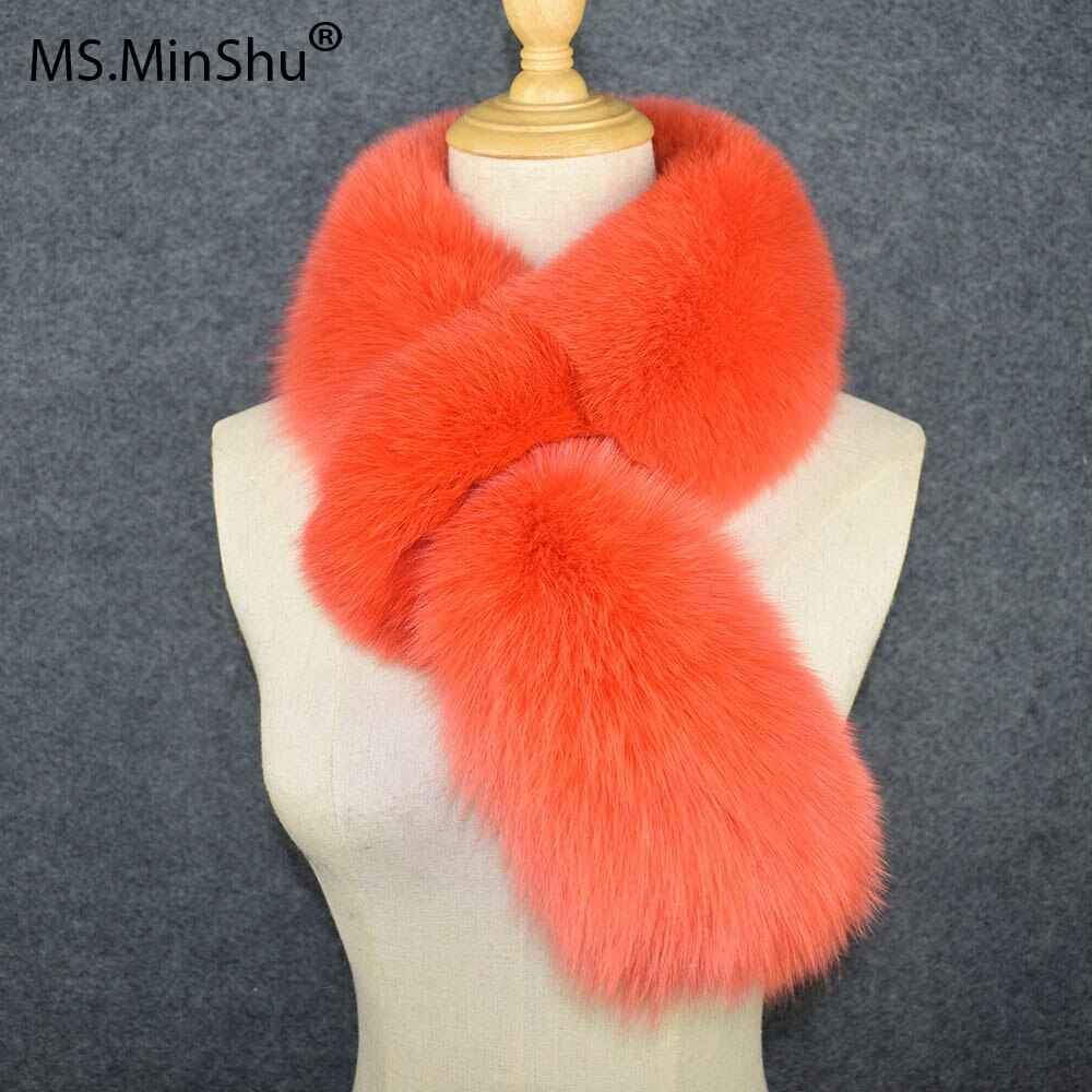 Genuine Fox Fur Scarf Full Fur Thick and Warm Winter Scarf Soft Women Fox Fur Scarf Collar