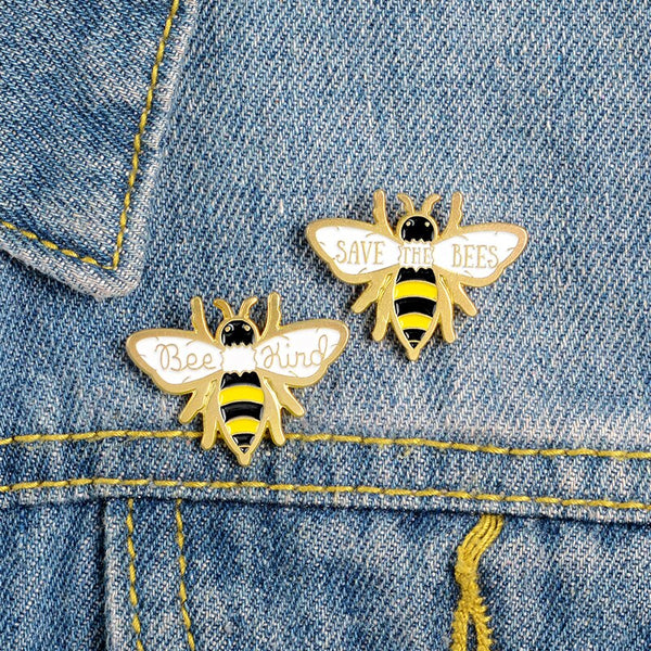 "PINS ECO-FRIENDLY ""SAVE THE BEES"""