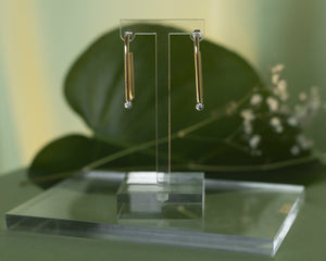 Brass Droplet Hoops