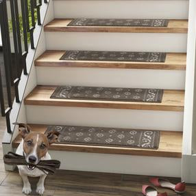 CARPET STAIR TREADS FOR DOGS AND OTHER PETS, CHILDREN AND THE FAMILY