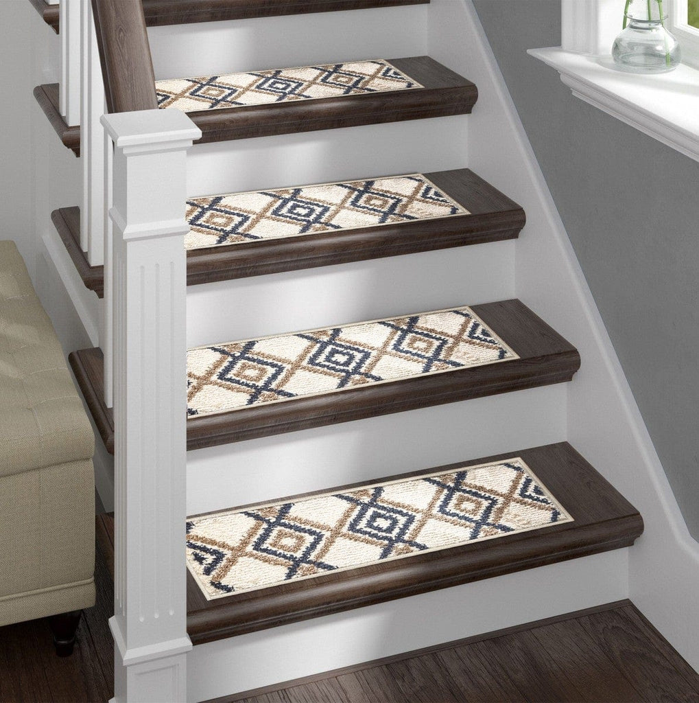 Shaggy Stair Rug - Light Aura, Pack of 13 with Double Sided Tape
