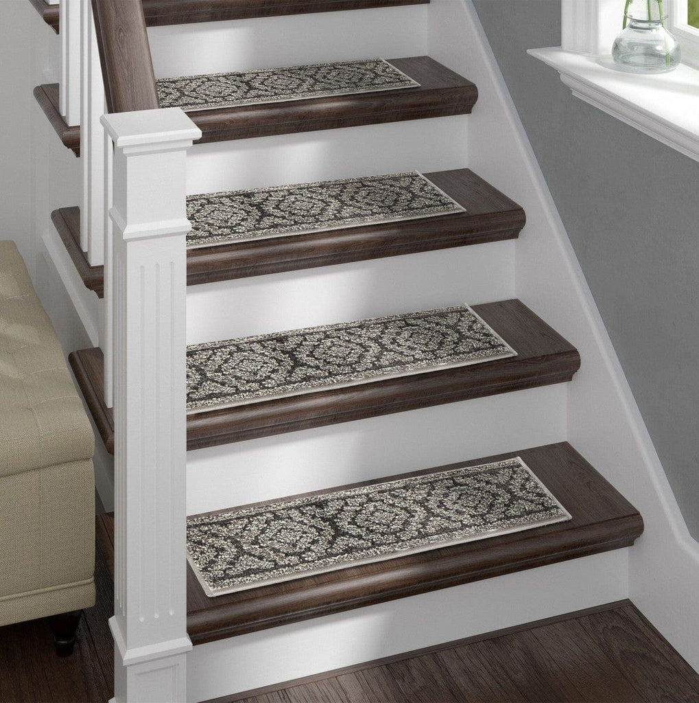 Shaggy Stair Treads Anastacia, Pack of 13 with Double Sided Tape