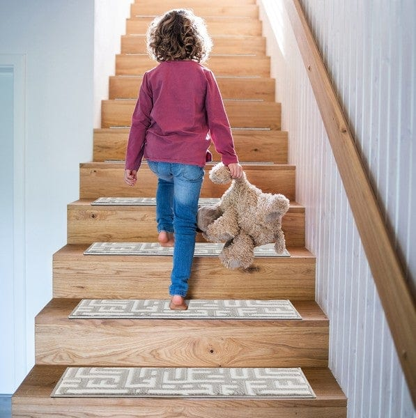 Water Oak Gray Soft Stair Treads, Pack of 13 with Double Sided Tape