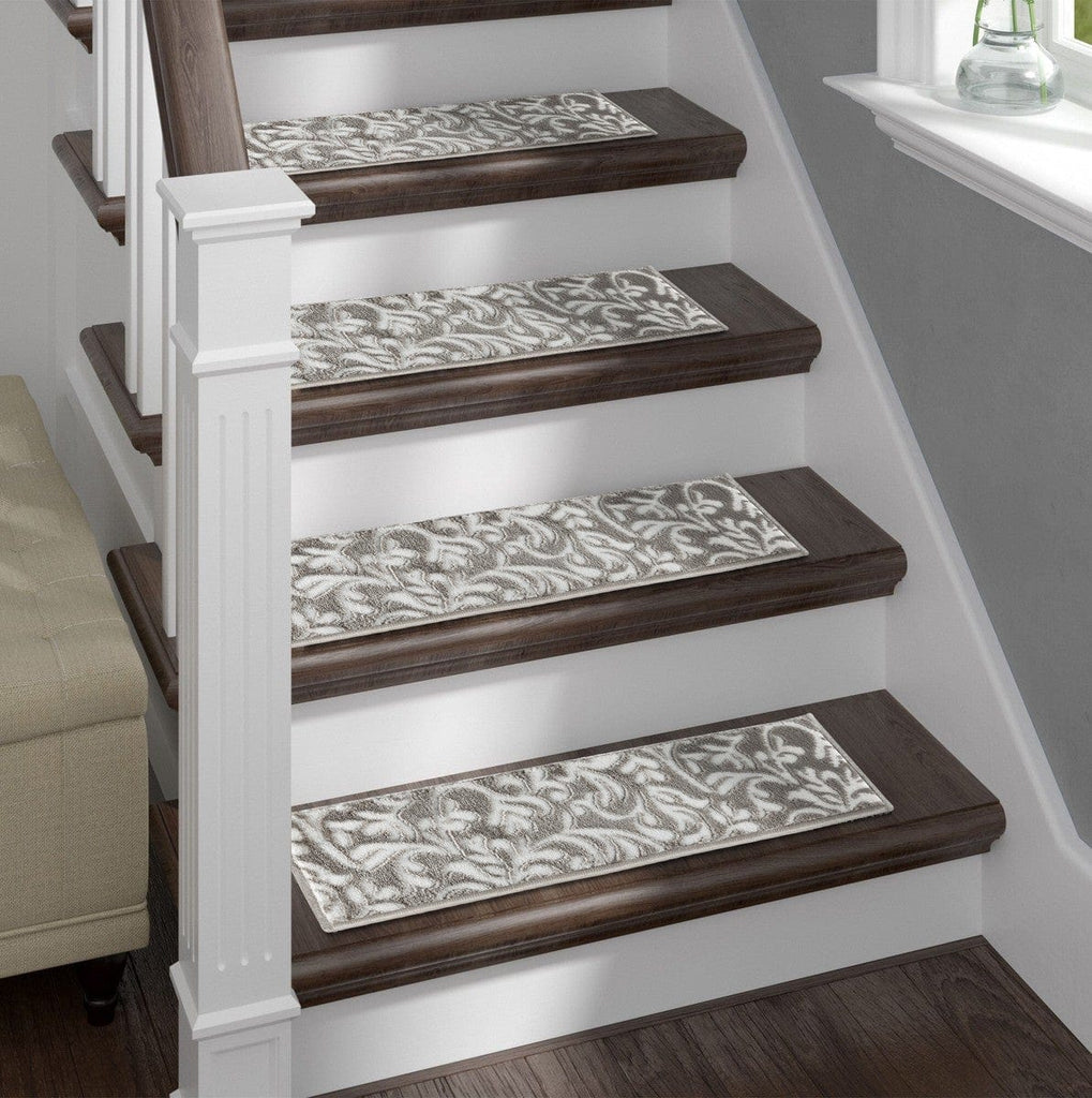 Primrose Gray Soft Stair Treads, Pack of 13 with Double Sided Tape