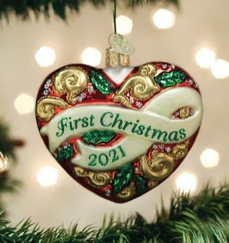 2021 FIRST CHRISTMAS HEART ORNAMENT