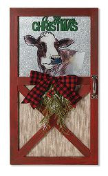 WOOD & METAL HOLIDAY COW