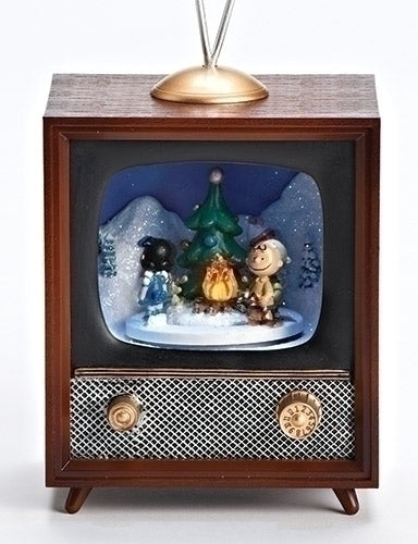 MUSICAL LED TV - SNOOPY & CAMPFIRE, ROTATING