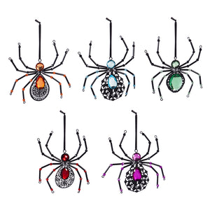 METAL SPIDER ORNAMMENT - PINK