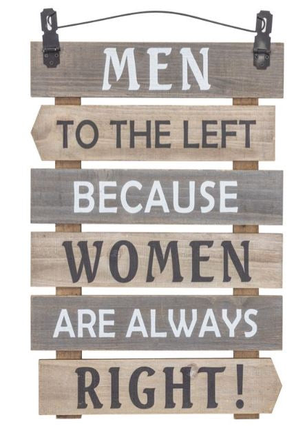 MEN LEFT - WOMEN RIGHT SIGN