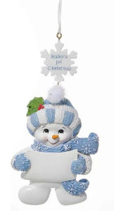 BABY'S 1ST CHRISTMAS SNOWBOY ORNAMENT