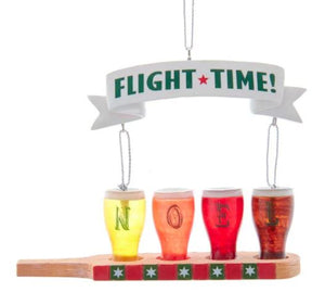 """FLIGHT TIME"" BEER GLASS ORNAMENT"