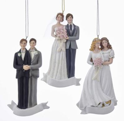 WEDDING COUPLE ORNAMENT - BRIDE & BRIDE