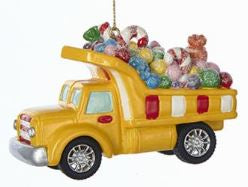 CANDY CARRIER VEHICLE ORNAMENT - DUMP TRUCK