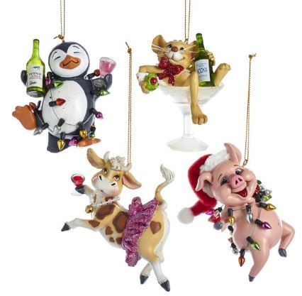 FARM PARTY ORNAMENT - PIG