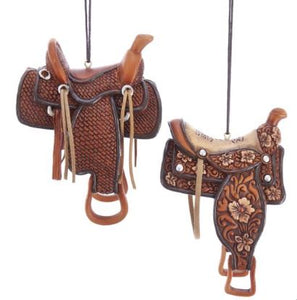 WESTERN SADDLE ORNAMENT - PLAIN