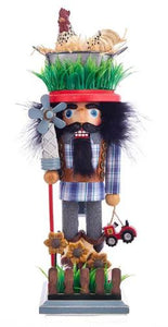 HOLLY WOOD FARMER NUTCRACKER