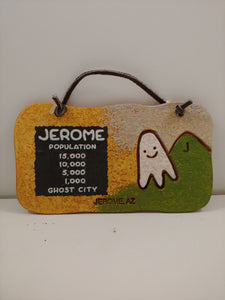 CLAY GHOST & JEROME POPULATION ORNAMENT