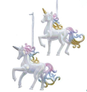 MULTI PASTIL COLOR UNICORN WITH SILVER HORN