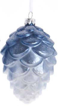 GLASS PINECONE - BLUE TOP