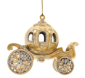 METALLIC GOLD CARRIAGE ORNAMENT
