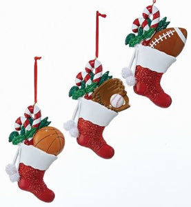 SPORTS SOCK ORNAMENT - BASKETBALL