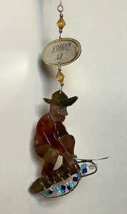 MINE PANNER COPPER ORNAMENT