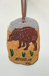 CLAY JAVALINA ORNAMENT