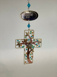 TREE OF LIFE CROSS   ORNAMENT