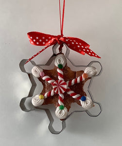 GINGERBREAD COOKIE ORNAMENT - STAR CUTTER