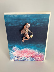 GLAM MERMAID PIN CARD
