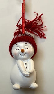 SNOWMAN WITH KNITTED HAT - BASHFUL