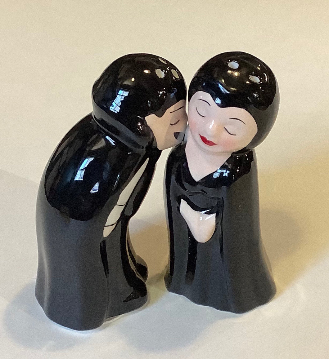 LOVE AT FIRST BITE SALT & PEPPER SHAKER SET