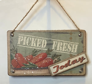 ORGANIC FOOD SIGN - PICKED FRESH