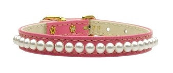 Fancy Vegan Leather Pearl Collar for Dogs & Cats