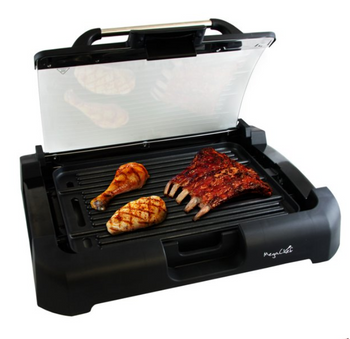 BestChef™ Indoor Grill and Griddle with Removable Glass Lid