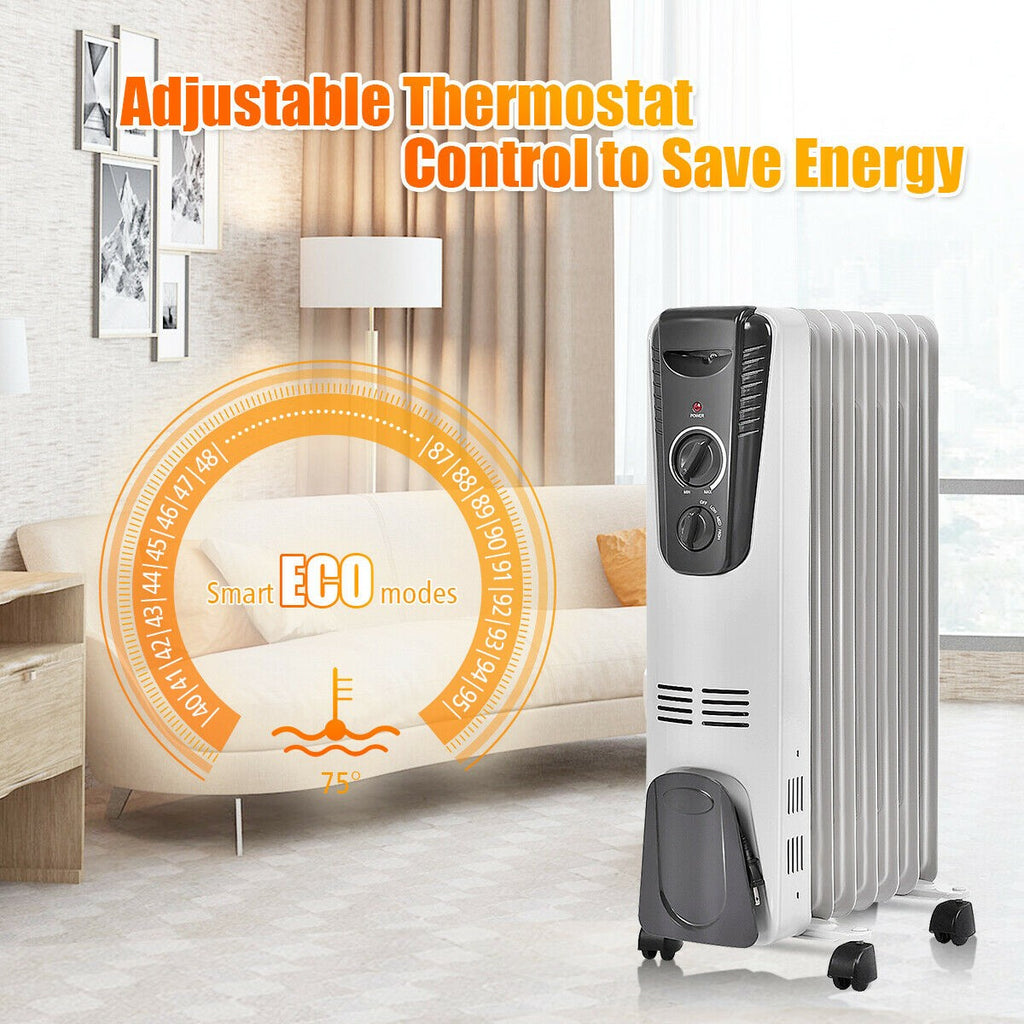 BestHeat™ Electric Portable Space Heater 1500 W Room Patio Oil Filled