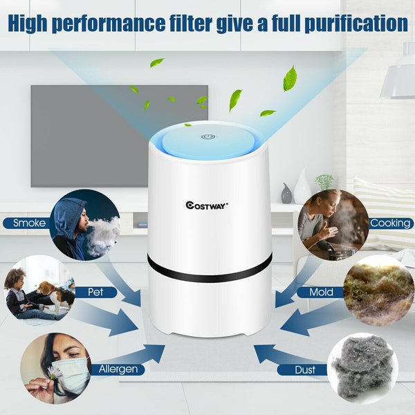 BestAir™ Mini HEPA Air Purifier Ionic 3-in-1 Composite