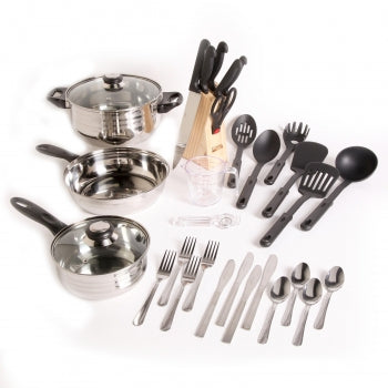BestChef™ Cookware and Knife Set Full Kitchen 32-Piece Cookware Combo Set
