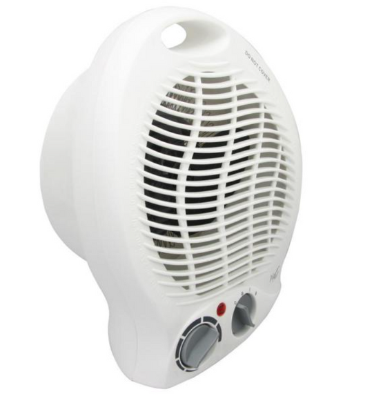 BestHeat™ Portable 2-Settings White Home Fan Heater with Adjustable Thermostat 1500W