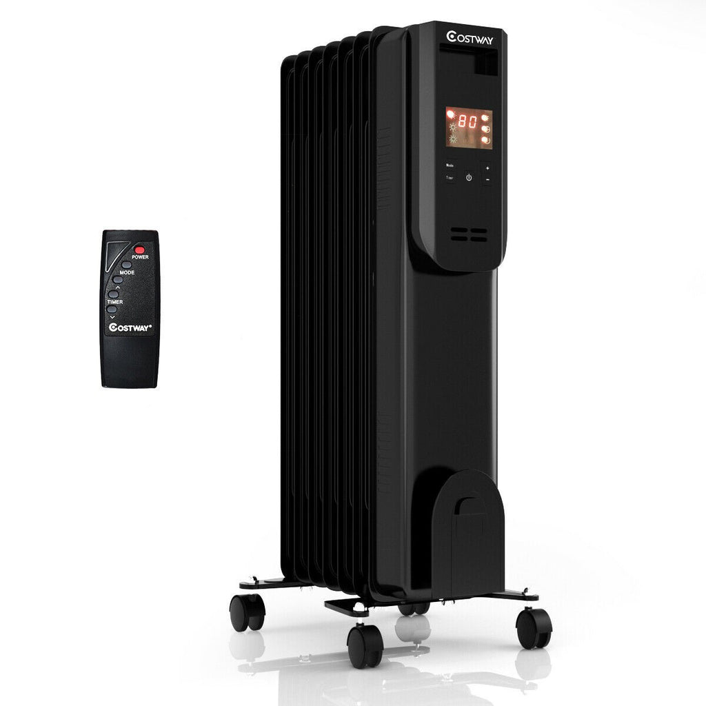 BestHeat™ Electric Radiator Space Heater (Video Demo) with Remote Control 1500W LCD