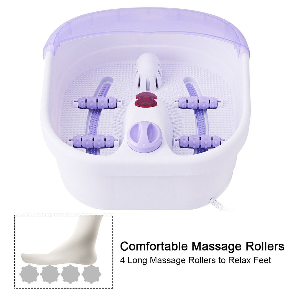 BestSpa™ Foot Spa Soaker Massager Heating (Video Demo) 4 Rollers Portable