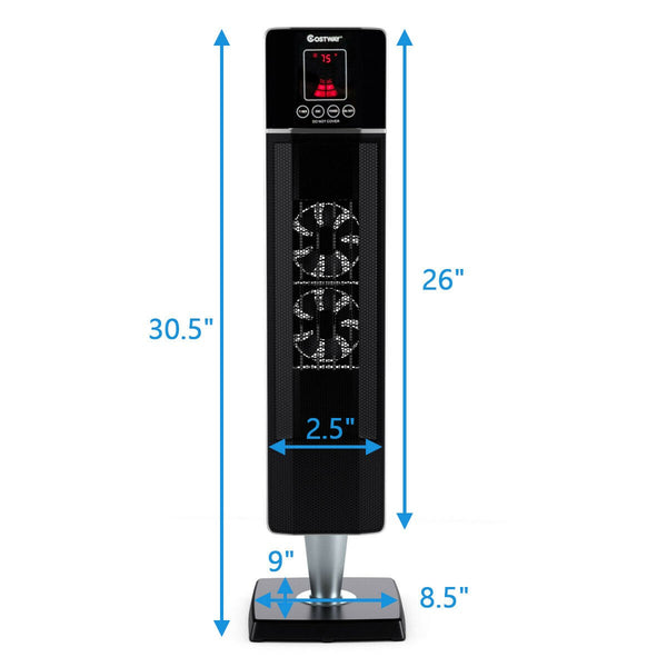 BestHeat™ Electric Portable Space Tower Heater w/ Timer Remote Control