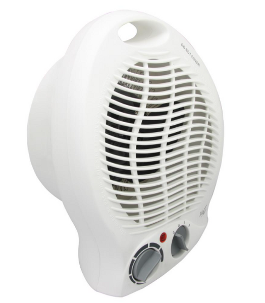 BestHeat™ Portable 2-Settings White Fan Heater with Adjustable Thermostat 1500W